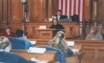 Coty Roberts addresses the chamber, 2004.