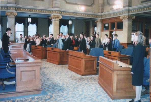 The Oath of Office is administered, 2004.