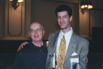 Adam Jacobi pauses with a forensic legend.