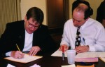 Mark Kohl and Rick Braun, tabulating.