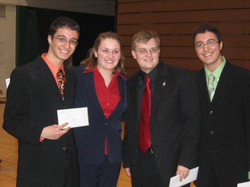 WFCA Scholarship Winners, 2007